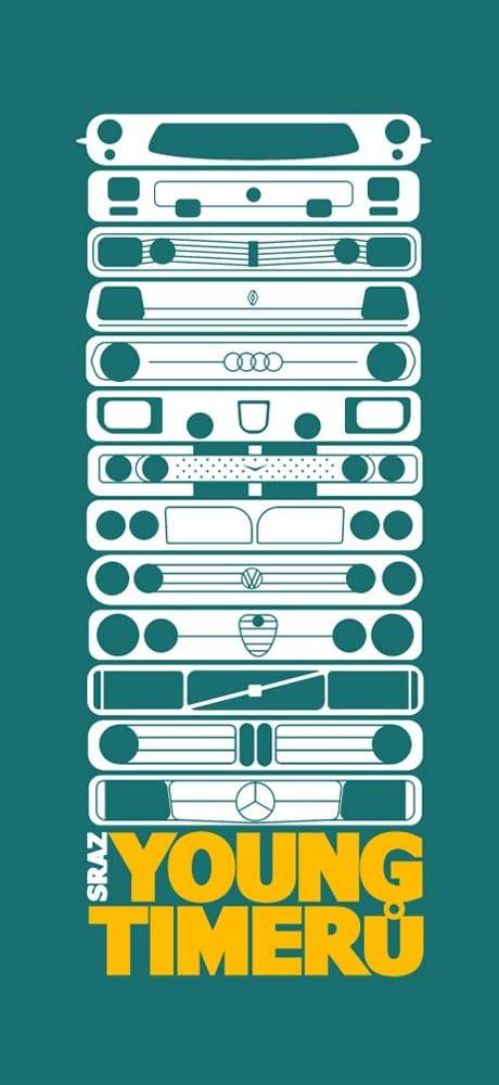 Sraz Youngtimeru logo design identity branding