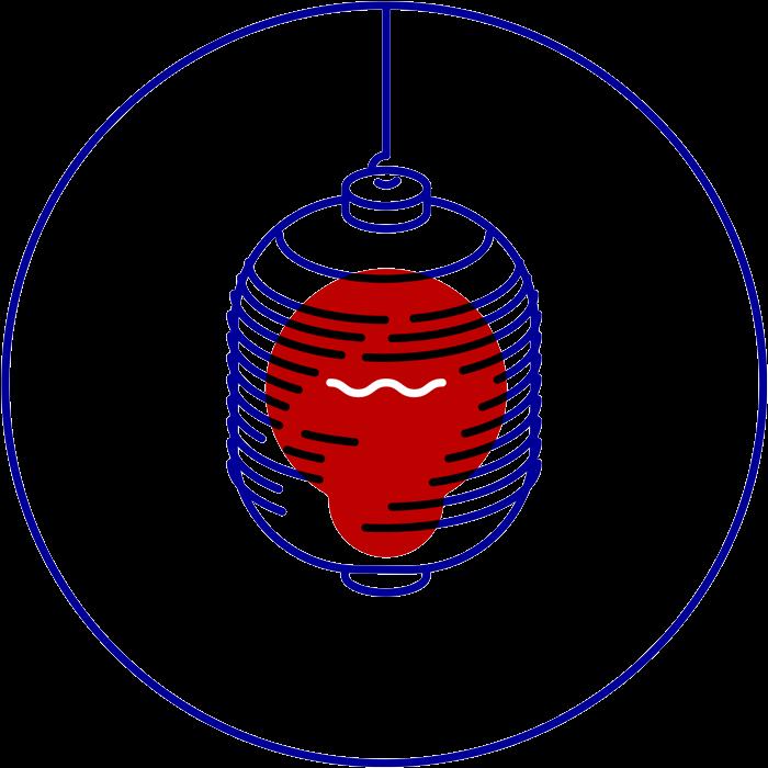 dezakaya branding icon lantern